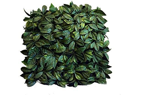 """Greensmart Décor Artificial Lemon Leaf 20"""" x 20"""" Greenery Mats, Set of 4"""