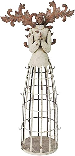 WHY Decor Elegant Metal Garden Angel Statue