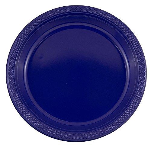 JAM Paper Round Plastic Party Plates - Large - 10.25