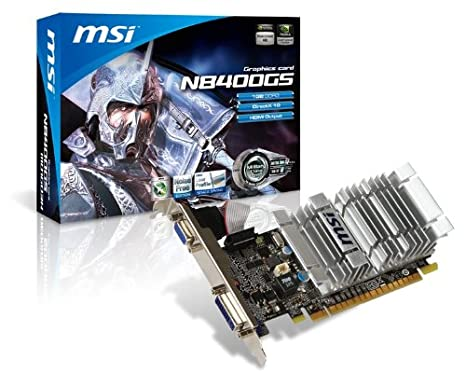 MSI GeForce 8400 GS 1 GB 64-bit DDR3 PCI Express 2.0 x16 HDCP Ready Low Profile Video Card N8400GS-D1GD3H/LP