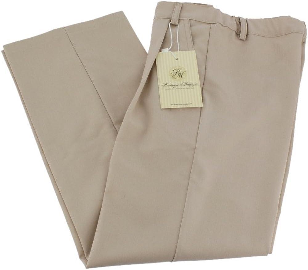 Boutique-Magique Pantalon Beige gar/çon Mariage c/ér/émonie Communion