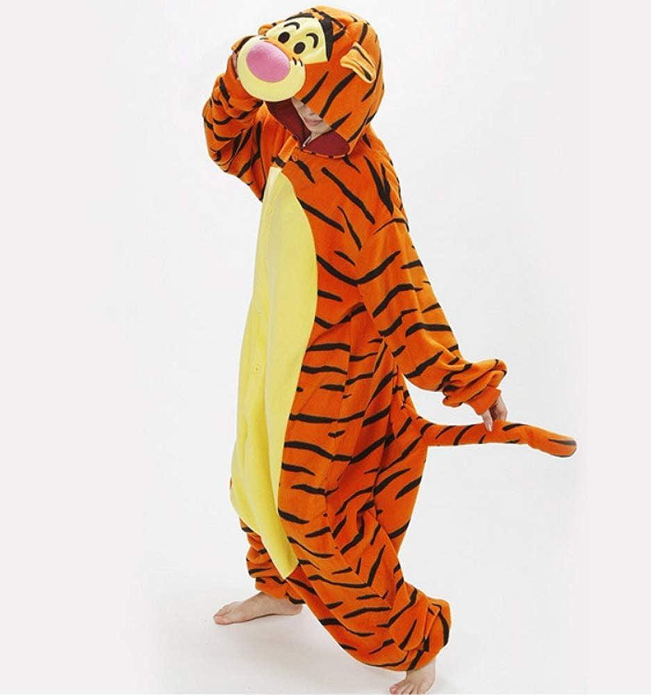 Festa Pigiama Kigurumi Tuta Costume Animale per Carnevale Cosplay Monopezzo in Flanella Halloween Morbido e Comodo