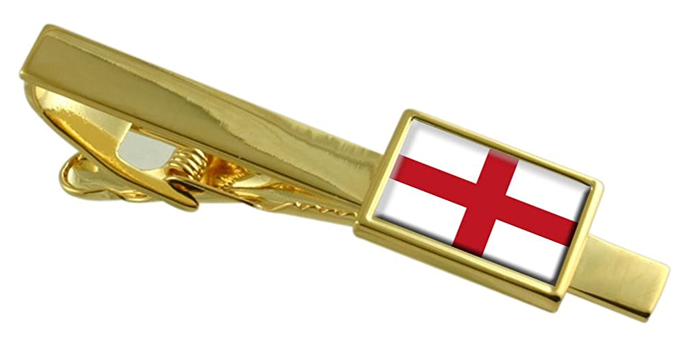 Genoa City Italy Flag Gold-tone Tie Clip Engraved Personalised