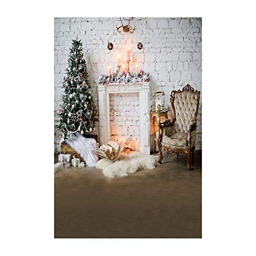Background Decoration,Christmas Backdrops Decoration 3D Sticker Photography Studio Background (C) ()