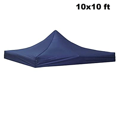Awesome and Durable Pop Up Canopy Outdoor Tent Folding Gazebo Party Sun Shade Shelter 10x10 ft (Canopy Cover - Navy) : Garden & Outdoor
