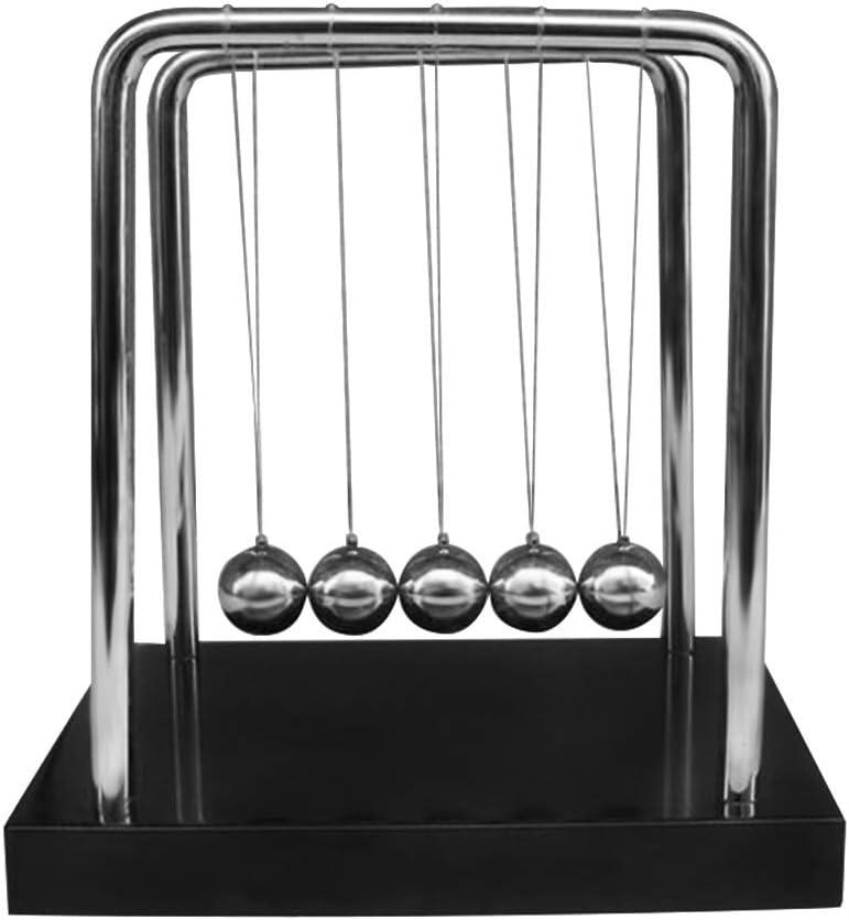 Accesorios de fitness Bolas De Equilibrio De La Cuna De Newton Arte En Movimiento Bolas De Equilibrio De Billar De Newton Con Base Roja Bolas De Equilibrio De La Horquilla Clásica Ciencia