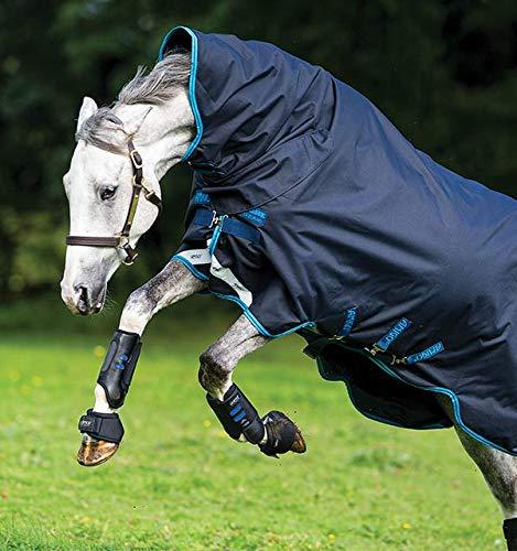 Horseware Ireland Amigo Bravo 12 All in One Turnout Heavy, Navy/Electric Blue, 84 (Blanket Horse Blue Navy)