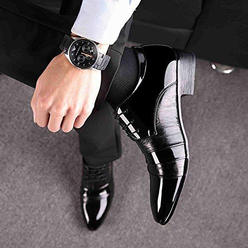 Punta Business Oxford Di Da Scarpe Uomo Derby Da Scarpe Pelle Pizzo In Scarpe Da Da Sposa Formal Con Lavoro Antisdrucciolevoli Black Uomo gHwwU8Fnq