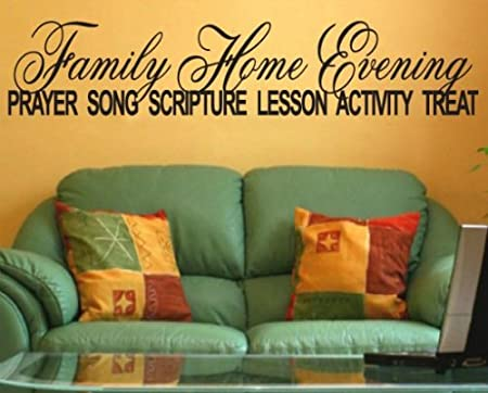 family home evening prayer song scripture lesson activity treat