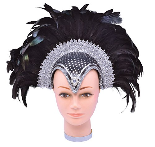 - Bristol Novelty BA071 Feather Helmet Jewel Plume, One Size