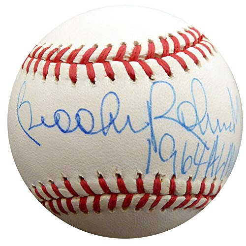 Brooks Robinson Autographed Signed Memorabilia Al Baseball Orioles 1964 Al Mvp Beckett F29718 1964 Al Mvp Autographed Baseball