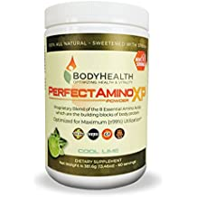BodyHealth PerfectAmino XP (60 Servings) Best Pre/Post Workout Recovery Drink, 8 Essential Amino Acids Energy Supplement with 50% BCAAs, 100% Organic, 99% Utilization for Maximum Power, Cool Lime
