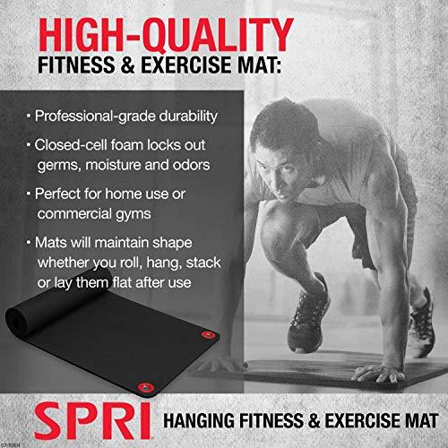SPRI Hanging Exercise Mat Wall-Mounted Rack Hanging Exercise Mats Gaiam 07-71018