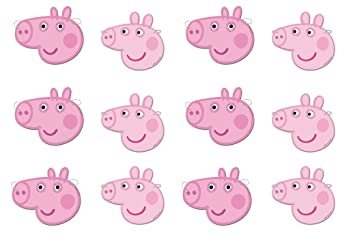 Peppa Pig 0553, Pack 12 caretas, Fiestas y cumpleaños ...