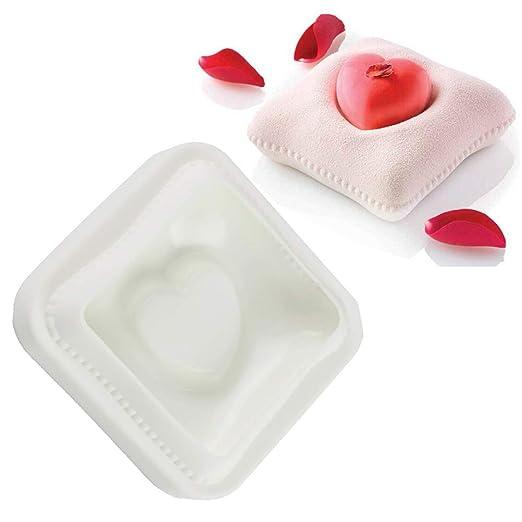 Moldes de silicona CaCaCook con forma de corazón para tartas ...