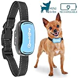 Small Dog Bark Collar for Tiny to Medium Dogs,Rechargeable and Waterproof Vibrating Anti Bark Training Device That is Smallest & Most Safe On Amazon - No Shock No Spiky Prongs! (2,5+kg)