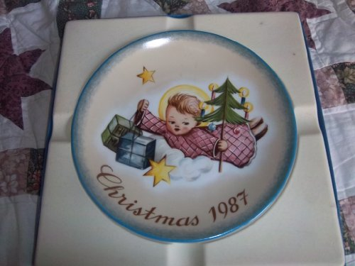 Schmid Hummel Christmas Plate - Schmid Angelic Gifts Inspired By Berta Hummel Christmas 1987 Collector Plate