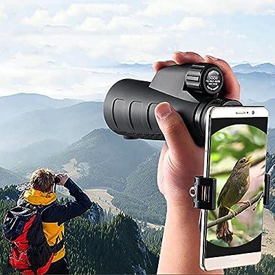 YUN Telescope@ 15X50 High Power Prism Monocular y Quick Smartphone ...