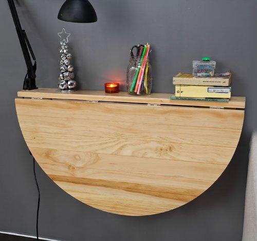 sobuy mesa plegable de pared mesa de cocina mesa para comer mueble infantil de madera fwtn color naturaleza amazones hogar