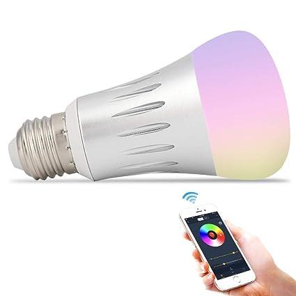 Bombilla LED Smart Wifi, bombilla de luz LED con temporizador regulable Haofy Luz RGB controlada