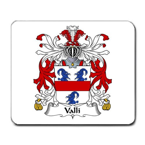 Valli Family Crest Coat of Arms Mouse Pad