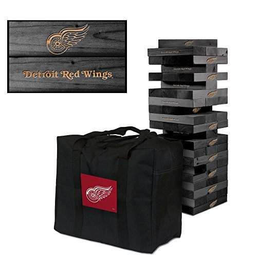 Detroit Red Wings Onyx Stained Giant Wooden Tumble Tower Game by Victory Tailgate