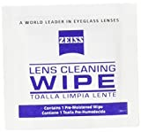 Zeiss Pre-Moistened Lens Cleaning Wipes, 6 x 5-Inches, 50 count