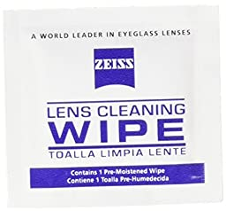 Zeiss Pre-Moistened Lens Cleaning Wipes, 6 x 5-Inches (50-Count)