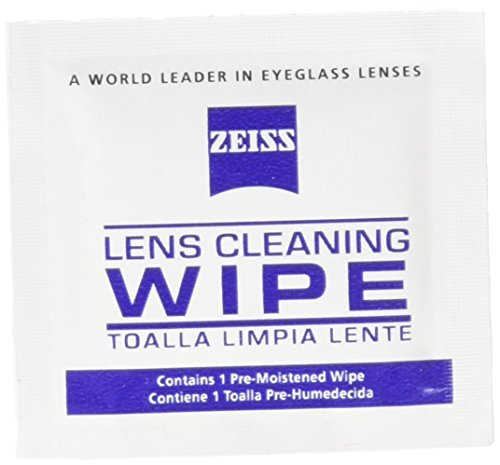 Zeiss Pre-Moistened Lens Cleaning Wipes, 6 x 5-Inches - Wipes Sunglass
