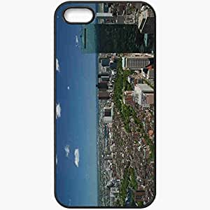 Protective Case Back Cover For iPhone 5 5S Case City Black