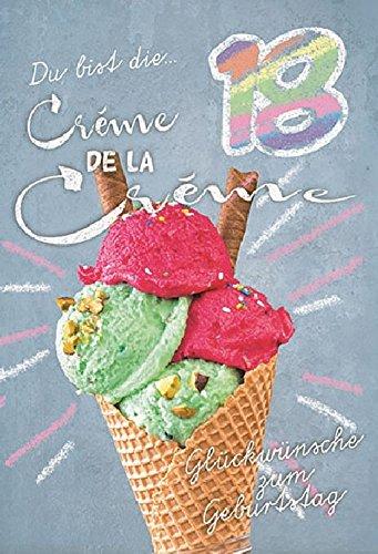 Tarjeta cumpleaños número 18 Cucurucho de helado arco iris ...