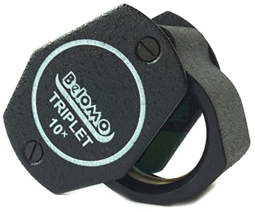 BelOMO 10x Triplet Loupe Folding Magnifier 21mm (.85