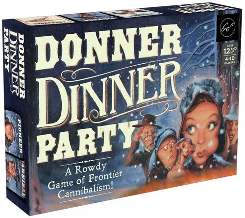 Chronicle Books Donner Dinner Party: A Rowdy Game of Frontier Cannibalism! (Weird Games for Parties, Wild West Frontier Game, Deception Board Game) ()