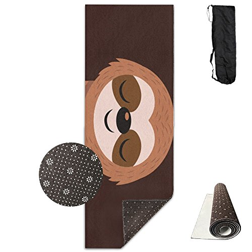FHIEOMAT Unisex Yoga Sloth Yoga And Pilates Mat Exercise Mat With Carrying Bag