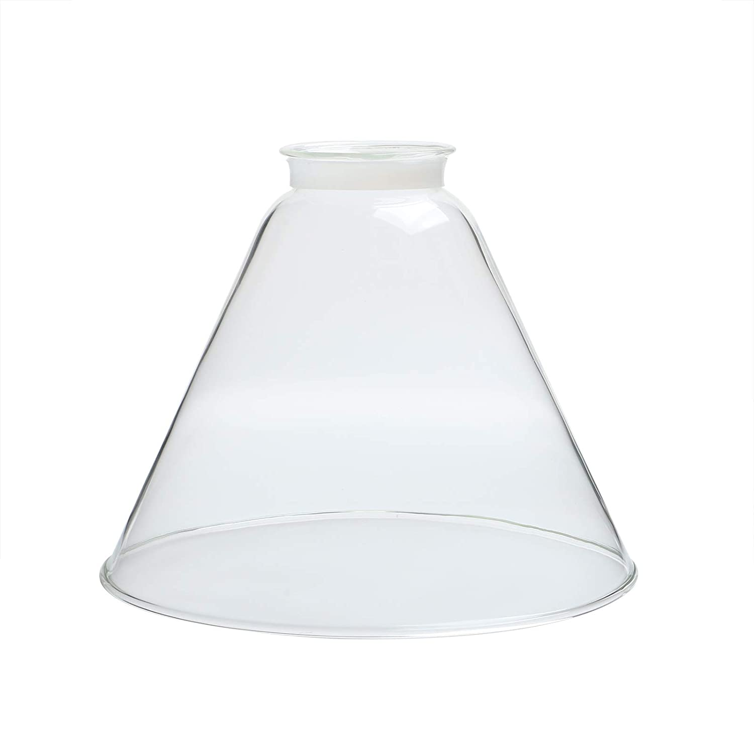 Permo lighting fixture replacement funnel flared clear glass shade amazon com