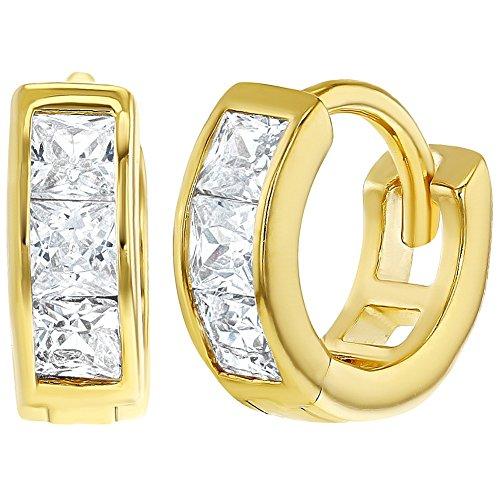 14f3a5b44ca1 Envio gratis In Season Jewelry - 925 Plata de Ley Circonita Clara Aros para  Niñas 8mm