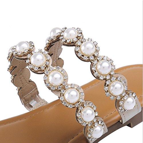 Beauty Imitacin Para De size Mujer 40 Angel Eu Planas Love Diamantes Chanclas 6Zwq5g
