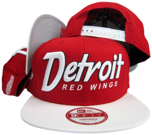 Detroit Red Wings Snap It Back Red/White Adjustable Snapback (Detroit Red Wings Snap)