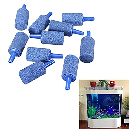 Weituoli Lodestar Pack de 10 Cilindros de Acuario Bubble Air Stone Fish Tank Aireador-Large