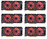 6 Packs of XFX Radeon RX 570 Graphic Card - 1.17 GHz Core - 1.28 GHz Boost Clock - 4 GB GDDR5 - Dual Slot Space Required (RX-570P427D6)