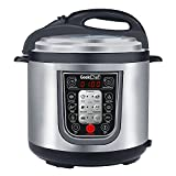 GeekChef 11-in-1 Multi-Functional Electric Pressure Cooker, Stainless Steel Cooking Pot with Sous Vide Function, 6Qt/1000W