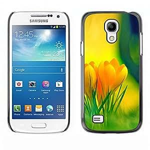 LauStart ( Flores amarillas ) Samsung Galaxy S4 Mini i9190 (NOT S4) Arte & dise?o plš¢stico duro Fundas Cover Cubre Hard Case Cover para