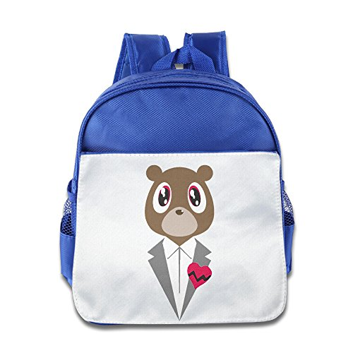 [KIDDOS Infant Toddler Kids Canye Gentle Cute Bear Backpack Satchel School Book Bag, RoyalBlue] (Fireman Sam Costume 2-3)