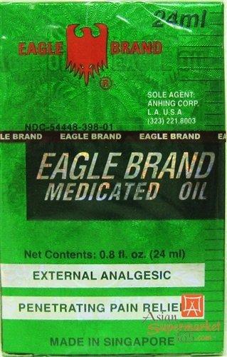A DOZEN (12) EAGLE BRAND MEDICATED OIL 24ML (O.8 OZ) (Eagle Oil)