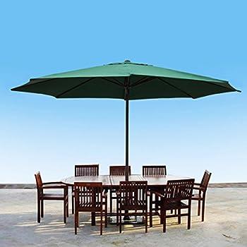 This Item 13 Foot Market Patio Umbrella Outdoor Furniture Aluminum (Green)