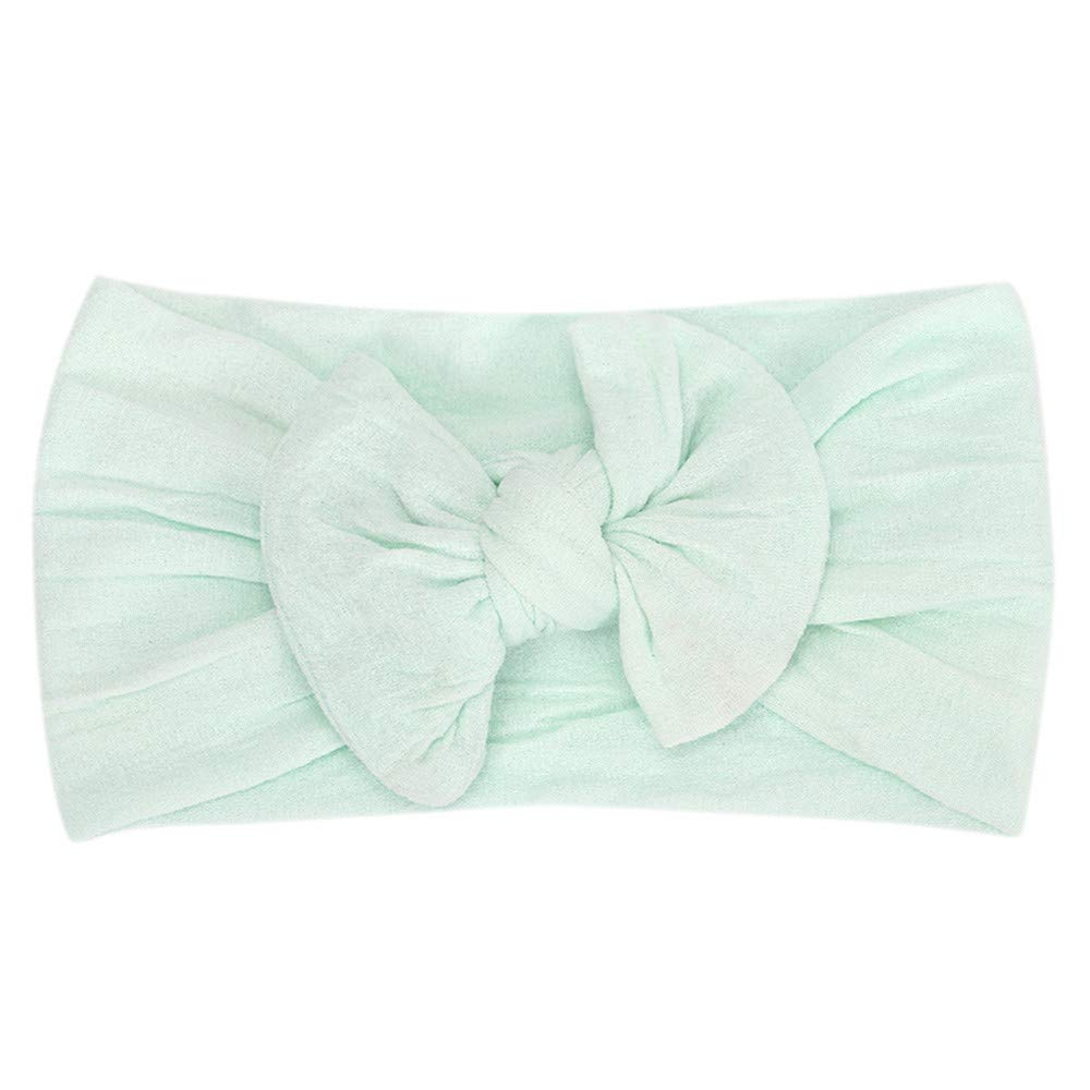Cyhulu Baby Girl Nylon Headbands Newborn Infant Toddler Hairbands and Bows Child Hair Accessories (Mint Green, One size)