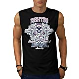 Fighter Classic Team Dead Combat Men NEW Black S-2XL Sleeveless T-shirt | Wellcoda