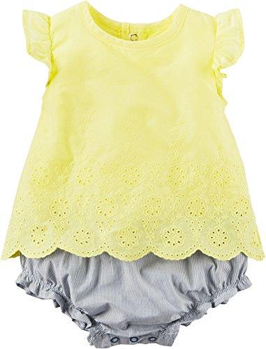 - Carter's Baby Girls' 2pc Set Eyelet Top-Bloomer 9 Months
