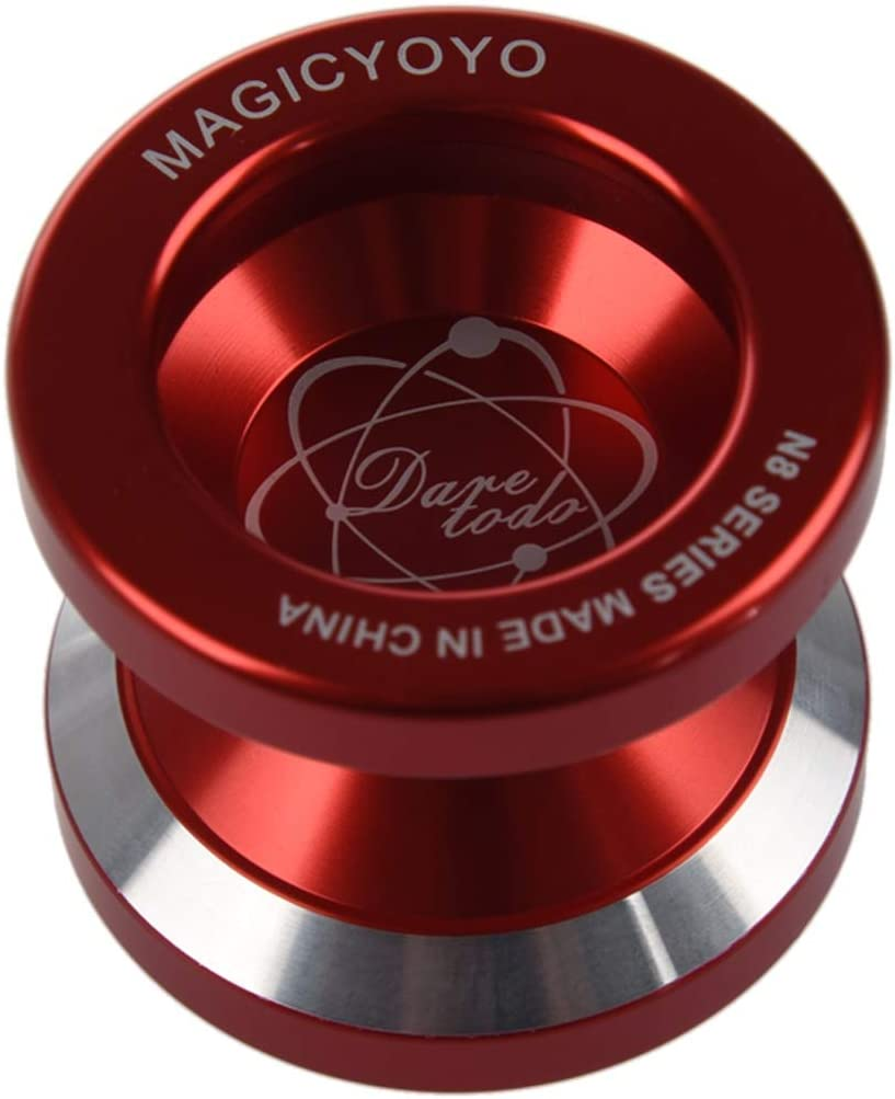 Sac Libre NO LOGO RCKJB YoYo N8 Super Professionnel YoYo Couleur : Rouge Rouge Libre Gant cha/îne