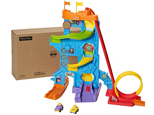 51qd14A4BmL - Fisher-Price Little People Loops 'n Swoops Amusement Park [Amazon Exclusive]